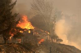 美圣迭戈发生山火 加州大学分校近万学生撤离