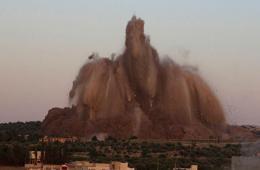叙反对派在政府军基地下挖隧道 引爆炸弹