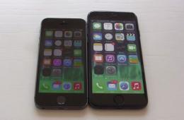iPhone 6模型机与iPhone5S实机对比