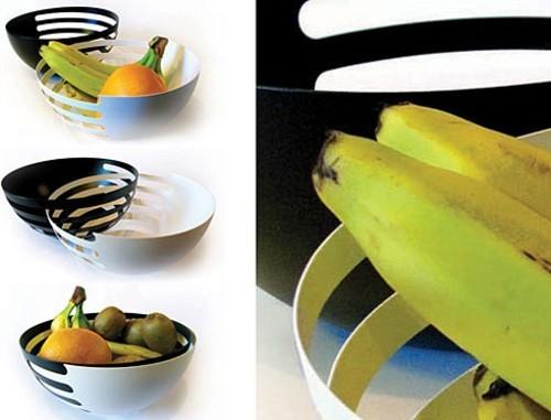 不锈钢果篮霸气设计 一个果篮当三个用