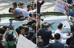 韩KBS工会砸社长车 抗议沉船事故报道要其辞职
