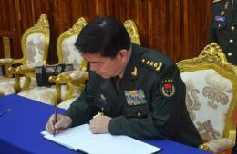 常万全吊唁老挝副总理兼国防部长当斋