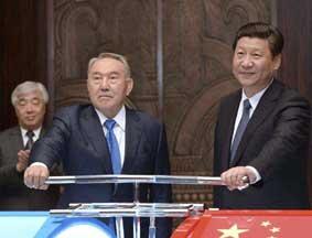 习近平同哈总统出席合作项目启动仪式