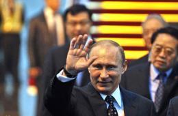 俄罗斯总统普京抵沪访华 出席2014亚信峰会