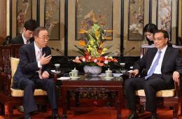李克强会见联合国秘书长潘基文