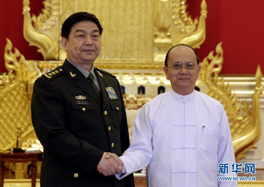缅甸总统吴登盛会见常万全