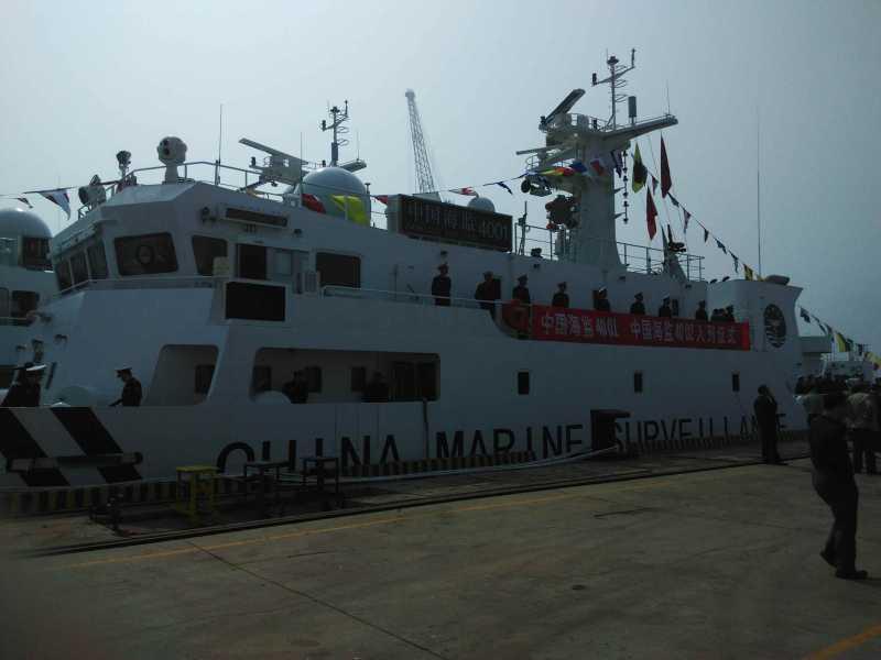 两艘千吨级执法船入列中国海监