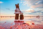 比天空更漂亮的粉红色盐湖