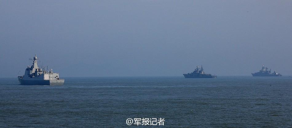 中俄海上军演首个演习科目开始