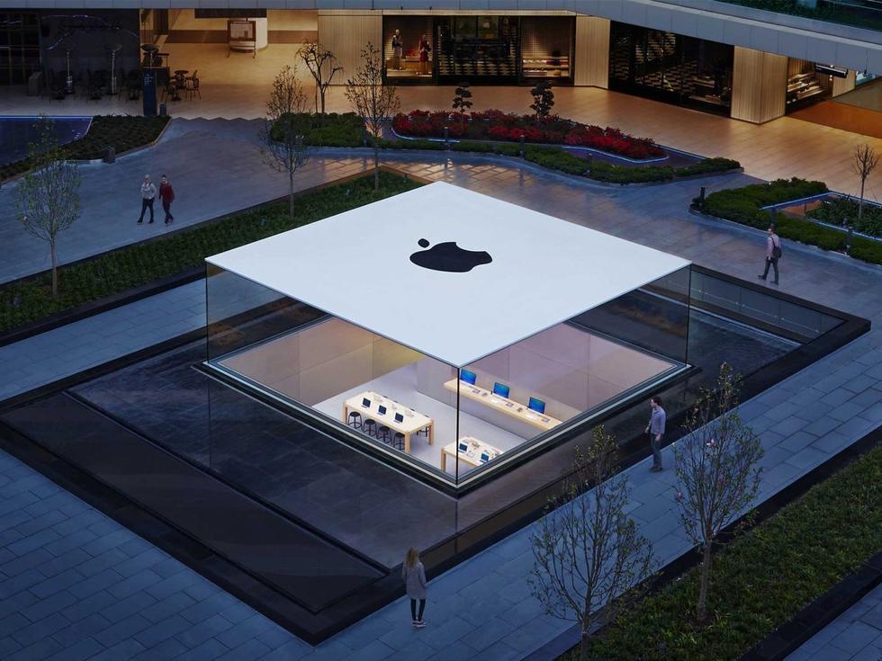 逛逛苹果太空船总部建筑师设计的苹果零售店