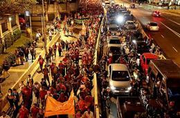 巴西圣保罗5000多名市民再次上街抗议世界杯
