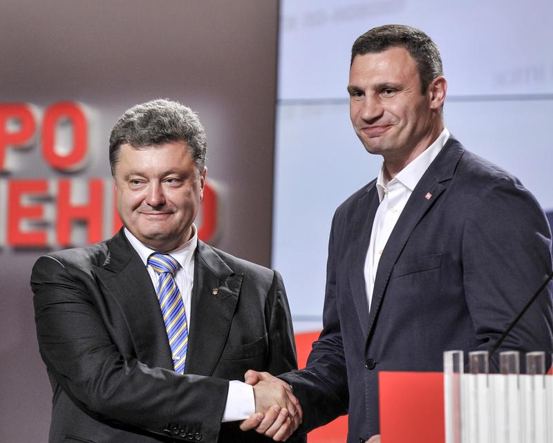 波罗申科宣布当选乌克兰总统