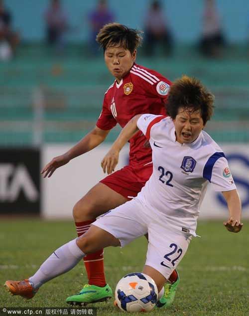 女足亚洲杯-杨丽头球绝杀 中国2-1韩国获季军