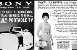 美媒:索尼电视业务崩溃 光辉历史大回顾