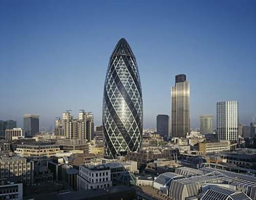 """社会资讯_伦敦""""小黄瓜""""设计师促城市停建玻璃帷幕大楼_国际新闻_环球网"""