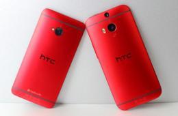 帅到爆 骚红版HTC One M8/M7对比写真
