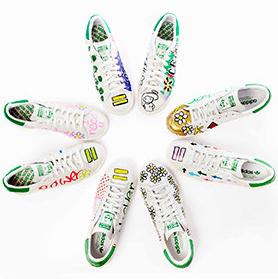 法瑞爾聯手阿迪達斯推出高端手繪球鞋