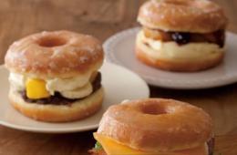 甜甜圈三明治:风靡东京的奇怪美食