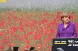 默克尔出席第一次世界大战纪念活动