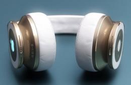 高调土豪金:苹果Beats耳机概念设计