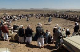 也门武装部落人员集会 支持也门军队反基地组织行动