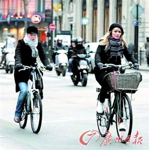 法国员工骑车去上班 每公里奖0.25欧