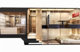 日本打造超豪华旅游专列 10节车厢仅供34人乘坐