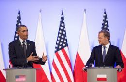 奥巴马访问波兰 与波兰总统会晤