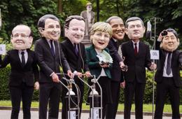 """G7峰会领导人遭恶搞集体""""患病"""" 呼吁关注能源安全"""