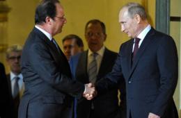 普京访法与奥朗德会晤 将出席诺曼底登陆纪念活动