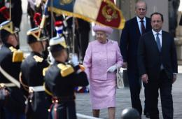 英国女王赴法国纪念诺曼底登陆70周年