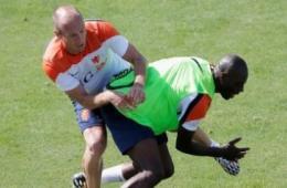 荷兰队内讧_荷兰队训练中爆内讧? 罗本被撞伤后疑似踢人报复