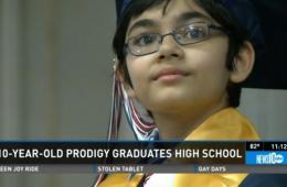 美天才少年10岁高中毕业梦想当总统
