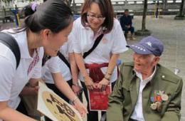 两岸志愿者共同探访远征军老兵