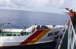 外交部公布越船撞击中方船只照片