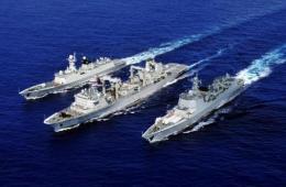 参加环太军演中国海军舰艇编队首次进行海上补给
