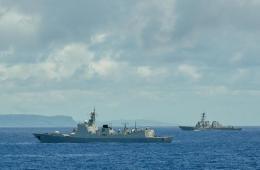 中国海军环太平洋军演与美新7艘军舰关岛会合