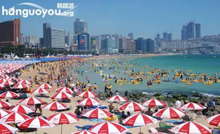 韩国海滩看比基尼美女 夏天真好