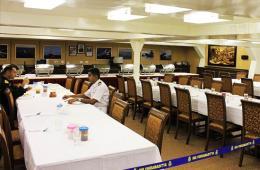 印度二手航母内置豪华自助餐厅