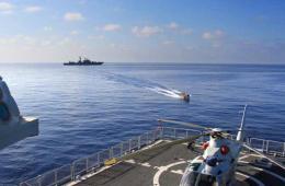 高清:中国海军圆满完成叙化武海运护航任务