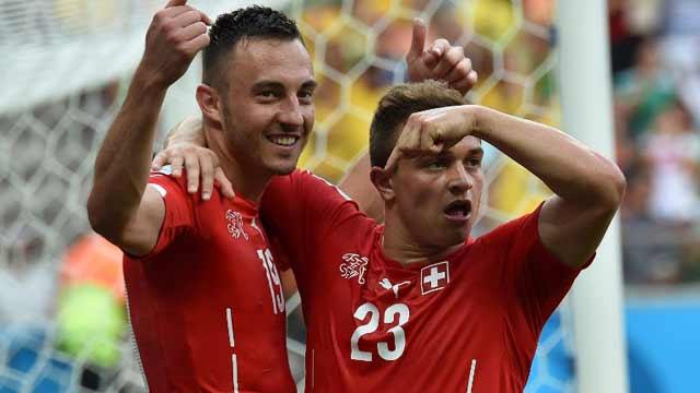 瑞士2-0洪都拉斯 沙里奇上演帽子戏法