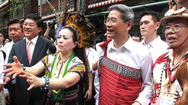 张志军访台 了解台湾原住民泰雅部落文化