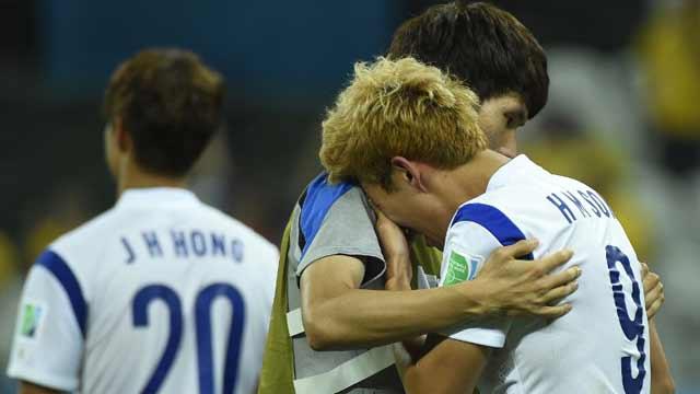 韩国0-1比利时遭淘汰 亚洲球队全军覆没