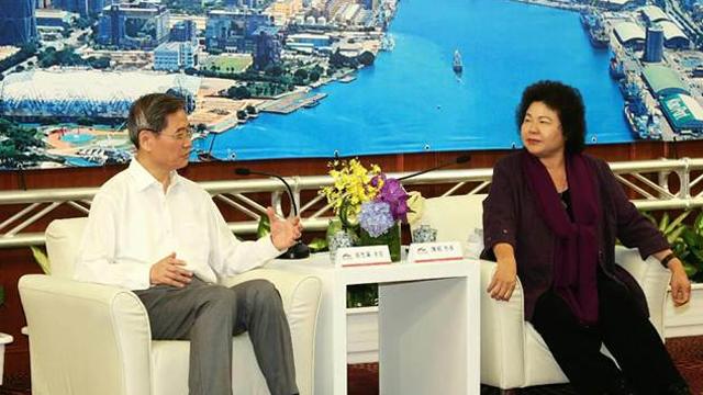 张志军访问南台湾 与高雄市长陈菊第二度会面
