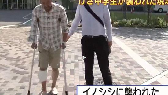 日本/日本当地一家电视台报道了这起事件。