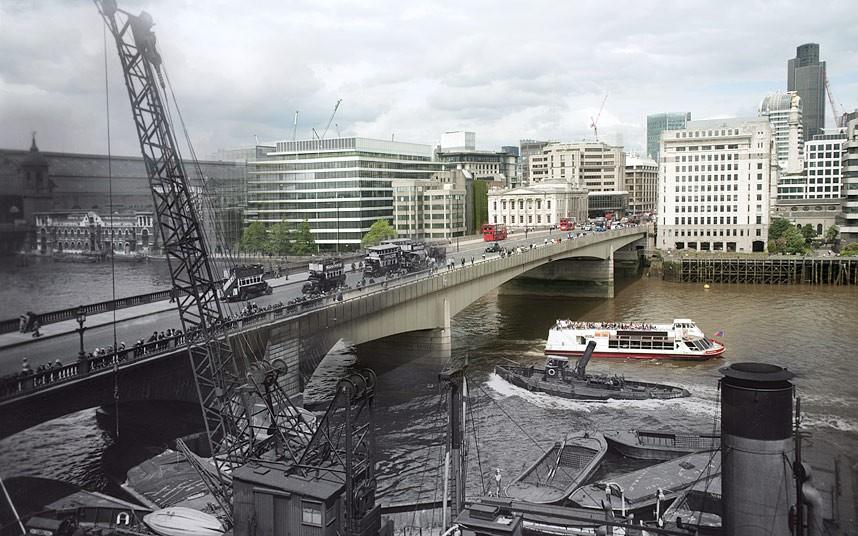 伦敦标志性大桥照片 历史与现实的交织