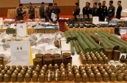 泰国展示军事政变所缴枪支弹药 含部分重型武器