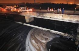 中石油输油管起火原油流淌成河 系近年第6起事故
