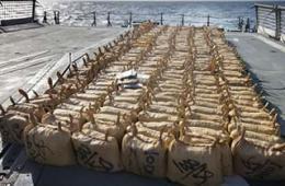 澳护卫舰缴获6吨毒品堆满甲板