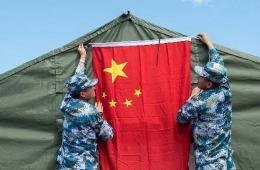 中国海军蛙人进驻环太军演基地